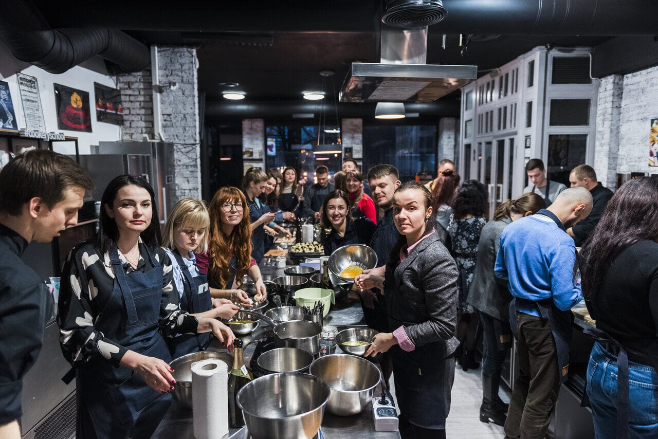 Корпоратив в формате кулинарного мастер-класса Киев